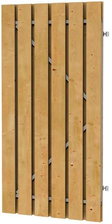Grenen geschaafde plankendeur op verstelbaar stalen frame 100x180 cm, recht, groen geïmpregneerd (W07550)