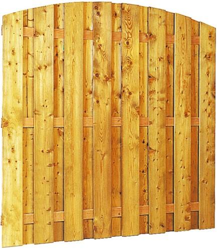 Grenen geschaafd plankenscherm 18-planks 13 mm, 180x164/180 cm, verticaal toog, groen geïmpregneerd (W08230)