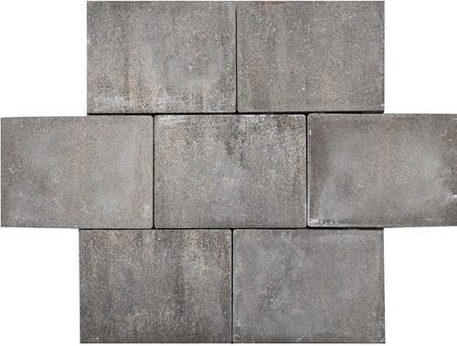 Sierbetonklinker Abdijformaat 20x30x6cm grijs/zwart