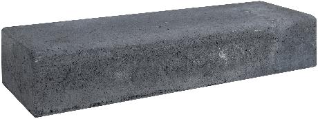 Retro betonbiels 60x20x12cm zwart