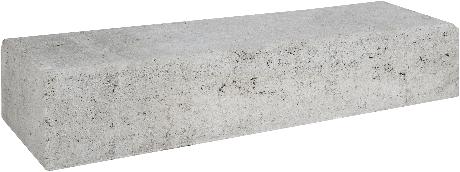 Retro betonbiels 60x20x12cm grijs