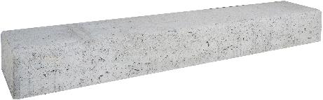 Retro betonbiels 100x20x12cm grijs