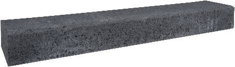 Retro betonbiels 120x20x12cm zwart
