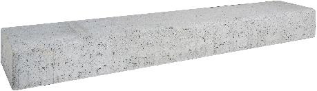 Retro betonbiels 120x20x12cm grijs