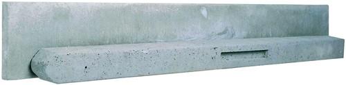 Betonpaal stampbeton 10x10x180cm grijs tussenpaal t.b.v. scherm 90cm hoog (W13012)