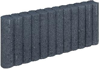 Mini Palissadeband 6x25x50cm zwart