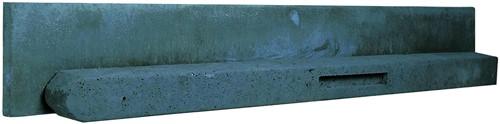 Betonpaal stampbeton 10x10x310cm antraciet tussenpaal t.b.v. recht scherm met 2 betonplaten (W13040)
