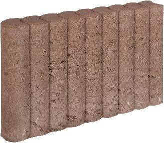 Rondo Palissadeband 8x35x50cm bruin