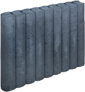 Rondo Palissadeband 8x50x50cm zwart