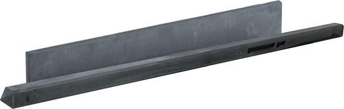 Betonpaal glad met diamantkop 10x10x310cm antraciet ongecoat, tussenpaal t.b.v. 2 betonplaten (W13234)