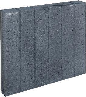 Blokjesband 8x50x50cm zwart