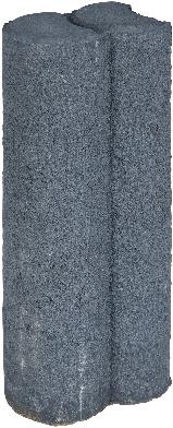Mini Duo Palissaden Ø6x8,3x25cm zwart