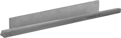 Betonpaal glad met diamantkop 10x10x280cm grijs ongecoat, hoekpaal (W13413)