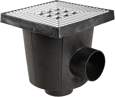 Ultra Drain Afvoerput 20x20x21cm Aluminium