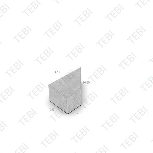 Kepersteen BKK 8cm structuur Donkerbruin