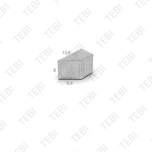 Kepersteen Dikformaat 13,8x6,9x8cm Breccia tagenta B