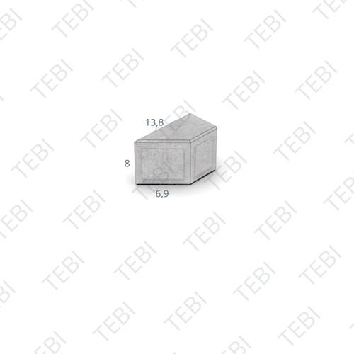 Kepersteen Dikformaat 13,8x6,9x8cm Breccia tagenta E
