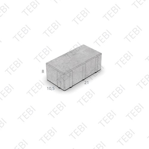 BKK KOMO Waterpasserend 21x10,5x8cm structuur Basalt MP
