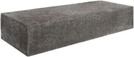 Oud Hollandse traptrede massief 100x40x20cm carbon