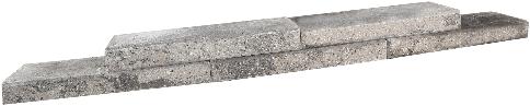 Abbey Walling 55x20x6,5cm grijs/zwart