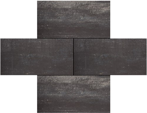 Cottage Stones 30x60x4cm Somerset grijs/zwart