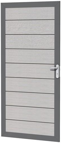 Composiet deur in aluminium frame 90x183cm grijs (W23650)