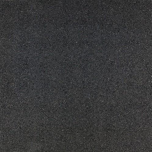 Rubbertegel 50x50x3cm zwart