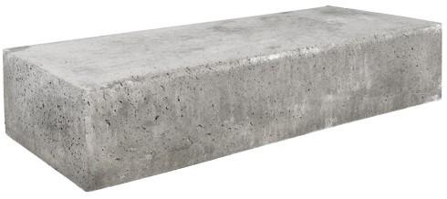 Oud Hollandse traptrede massief 100x40x20cm grijs