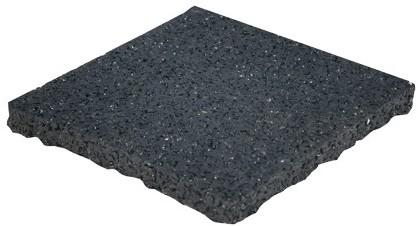 Tegeldrager per stuk zwart 10x10x1cm