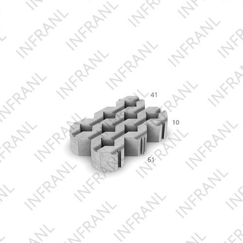 Grastegel 41x61x10cm grijs