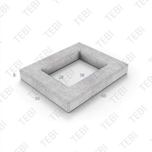 Sparingtegel KOMO 50x60x8cm (gat vierkant 28x38cm) grijs