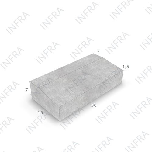 Goottegel KOMO 15x30x7/5,5cm grijs