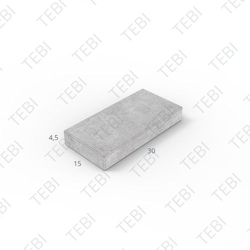 Tegel KOMO 15x30x4,5cm uitgew. grijs