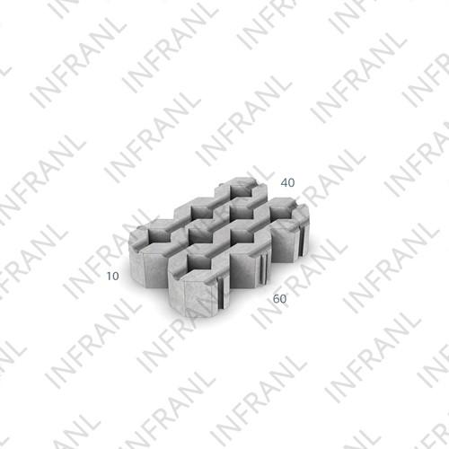 Grastegel 40x60x10cm grijs
