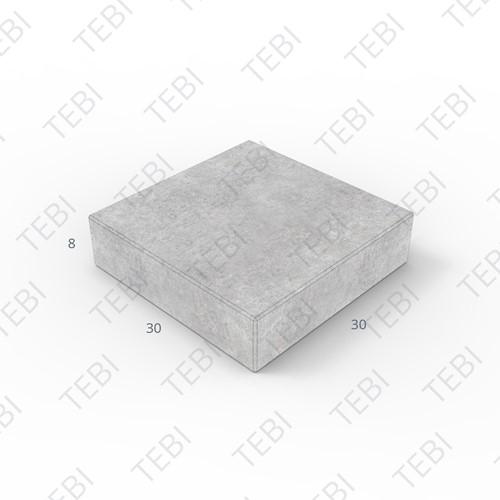 Tegel KOMO 30x30x8cm uitgew. grijs