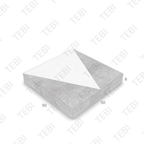 Verkeerstegel 50x50x8cm driehoek zwart/wit