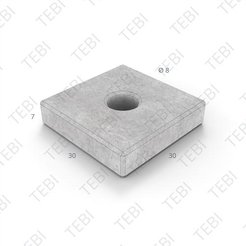 Sparingtegel KOMO 30x30x6cm uitgew. zwart/grigio (gat ø17,5cm)