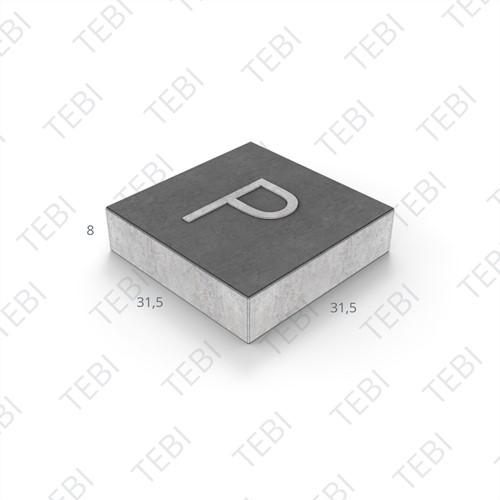 Symbooltegel 31,5x31,5x8cm P zwart/wit