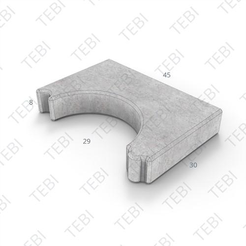 Sparingtegel KOMO 30x45x8cm grijs (gat ovaal 37x27cm)
