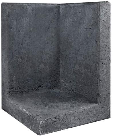 L-Element Hoek 40x40x60cm zwart