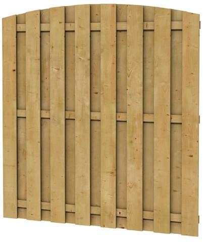 Grenen geschaafd plankenscherm 18-planks 15 mm, 179x164/179 cm, verticaal toog, groen geïmpregneerd (1000052)