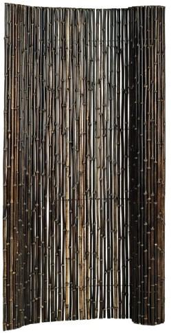 Bamboescherm op rol 180x180cm zwart (920517)
