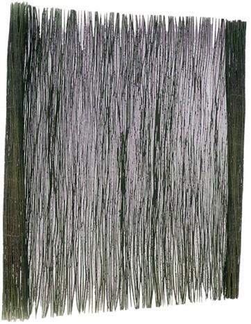 Wilgenteenmat 1 stengel dik met staaldraad gevlochten 175x200cm (W17038)