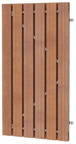 Hardhouten plankendeur recht verticaal op verstelbaar stalen framen 100x180cm (W14525)