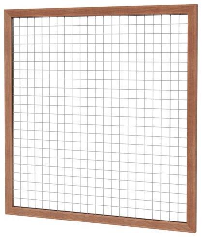 Betonijzertrellis met maas 7,5x7,5cm in hardhouten raamwerk 4,5x7,0cm 180x180cm (W14301)