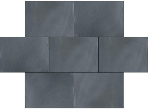 Black Brasil tegel zwart 20x30x4,5cm