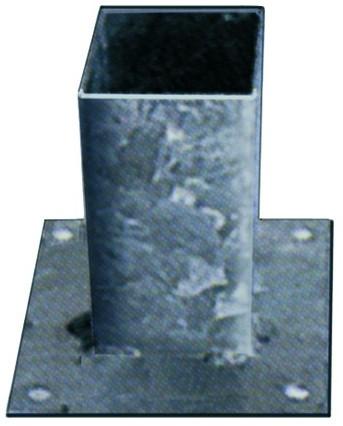Vloerpaalhouder verzinkt 12x12cm (1001103)