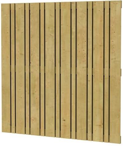 Geschaafd plankenscherm vuren Linia, 180x180cm (W08145)