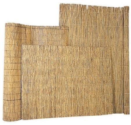 Rietmat 1,5/2cm dik met perlondraad gebonden per 5 halmen 175x200cm (W17026)