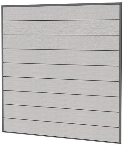 Composiet scherm 181,5x181,5cm lichtgrijs (W23625)